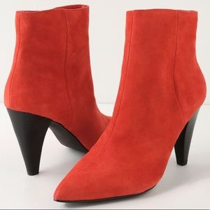 Lulu's x Matisse Henry Red Suede Leather Boots